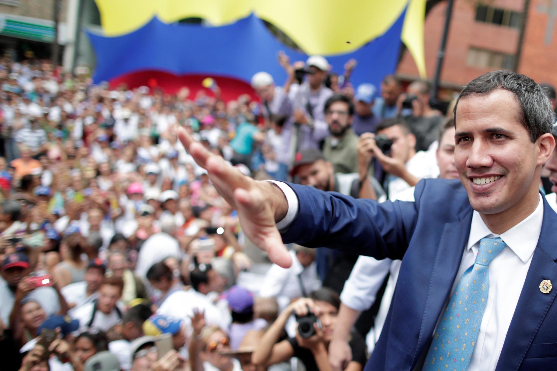 Jagoran 'yan adawar Venezuela Juan Guaido, da ya ayyana kansa a matsayin sabon shugaban kasa