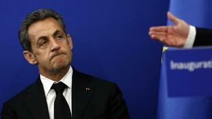 Cựu Tổng thống Pháp Nicolas Sarkozy tại Nice, ngày 10/03/2014