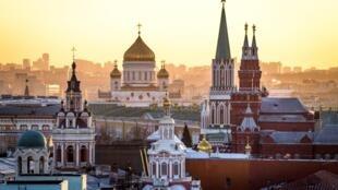 Vue aérienne du Kremlin.