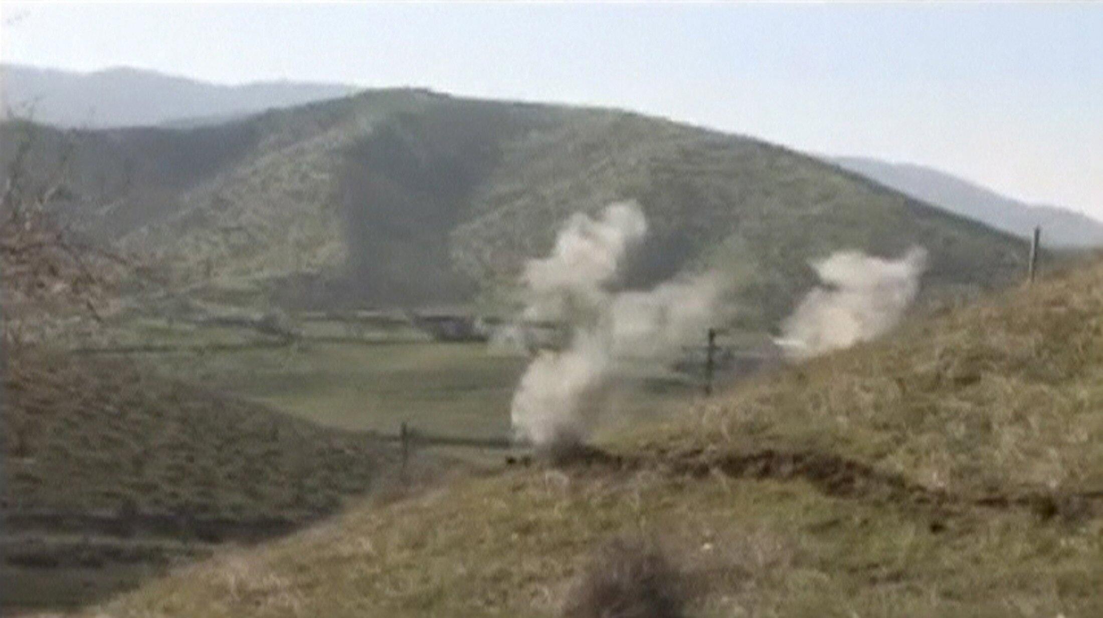 Hình ảnh trích từ video của bộ Quốc Phòng nước cộng hòa tự xưng Thượng Karabakh về cuộc giao tranh hôm 02/04/2016.