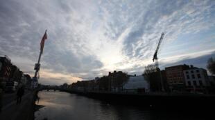 Dark skies over Dublin