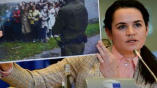 白俄罗斯反对派领袖季哈诺夫斯卡娅资料图片