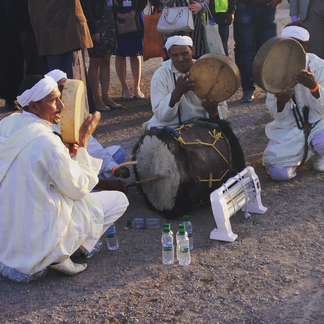 Traditional Moroccan dancers play at COP22 climate talks in Marrakesh, Wednesday 16 November 2016