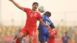 Lors de Tunisie-Namibie à la CAN U20 2021.