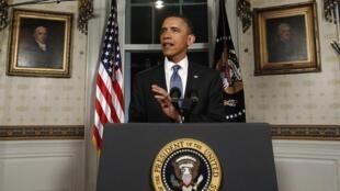 Barack Obama anuncia o acordo para o orçamento de 2011, na Casa Branca