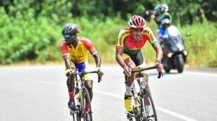 Paul Daumont lors de la troisième étape de la Tropicale Amissa Bongo, le 22 janvier 2020.