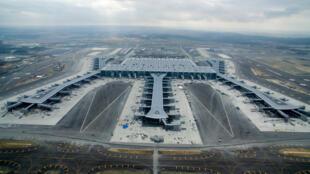Vista do novo aeroporto de Istambul