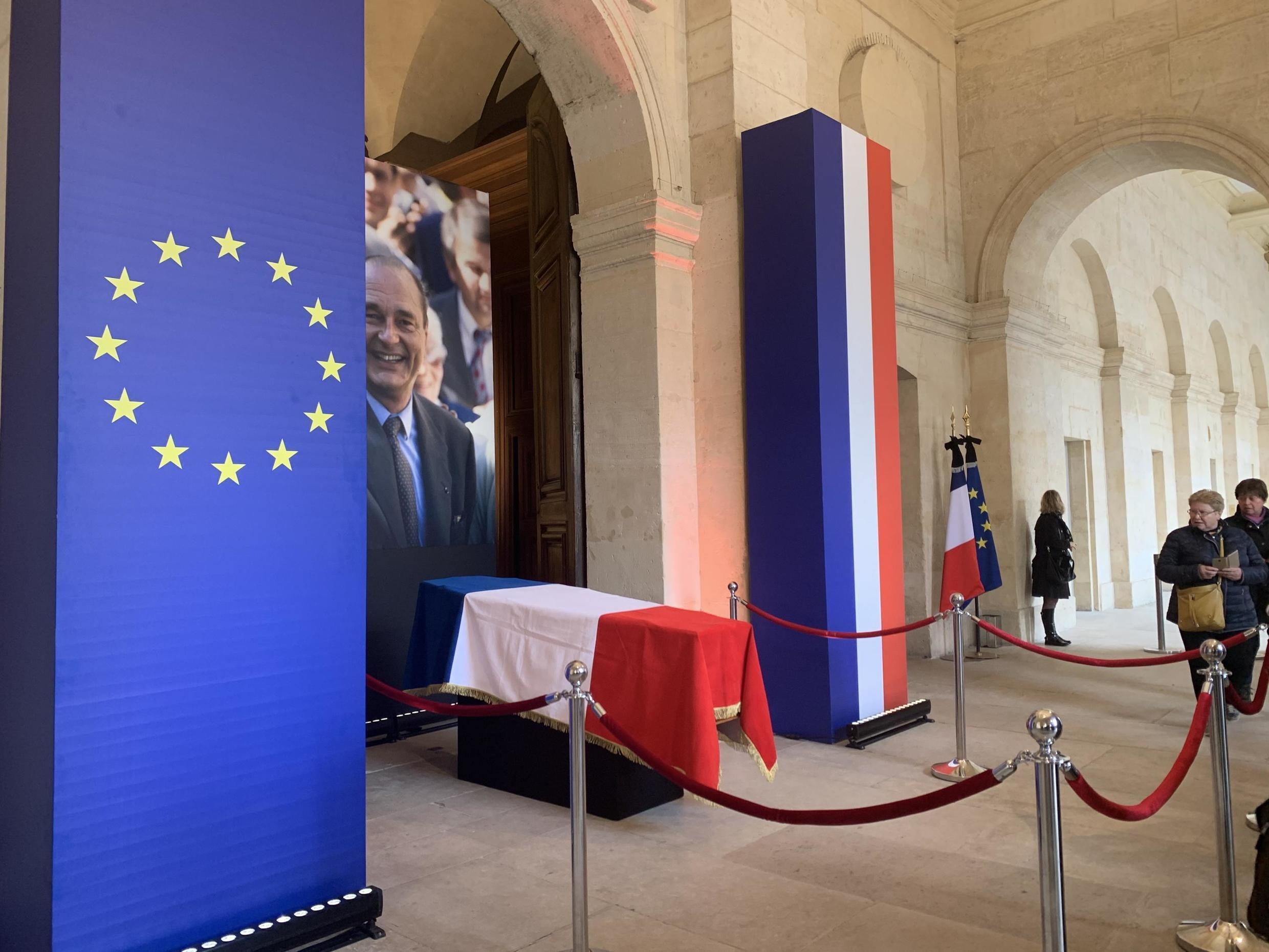 Homage to former French President Jacques Chirac, at Invalides in Paris, 29 September 2019