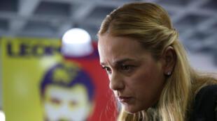 Lilian Tintori, esposa do opositor Leopoldo Lopez, a 2 de Setembro de 2017, em Caracas.