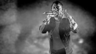Kendrick Lamar en concert au Festival d'été de Québec (Canada), le 7 juillet 2017.