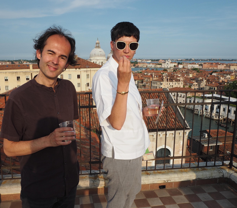 Séverine Janssen et Flavien Gillié, auteurs de l'installation sonore « Venise dans ta tête » présentée à Venise le 26 mai à l'occasion de la présentation publique du projet Ecouter le monde