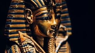 A canopic coffinette of King Tut, one of the 150 objects on display at the exhibit at La Villette in Paris