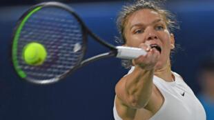 Simona Halep lors du tournoi de Dubaï, le 22 février 2020