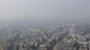 The Paris region is particularly affected by pollution, 17 March 2015.