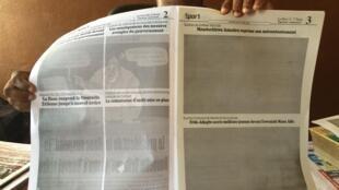Au Bénin, le quotidien «La Nouvelle Tribune», un des principaux titres de presse, est suspendu jusqu'à nouvel ordre.
