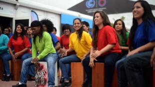 Performances de musiciens à la Conférence sur le climat des Nations unies à Lima, le 1er décembre 2014.