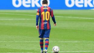 El delantero argentino del FC Barcelona Lionel Messi, durante el empate del domingo contra el Cádiz, en el Camp Nou