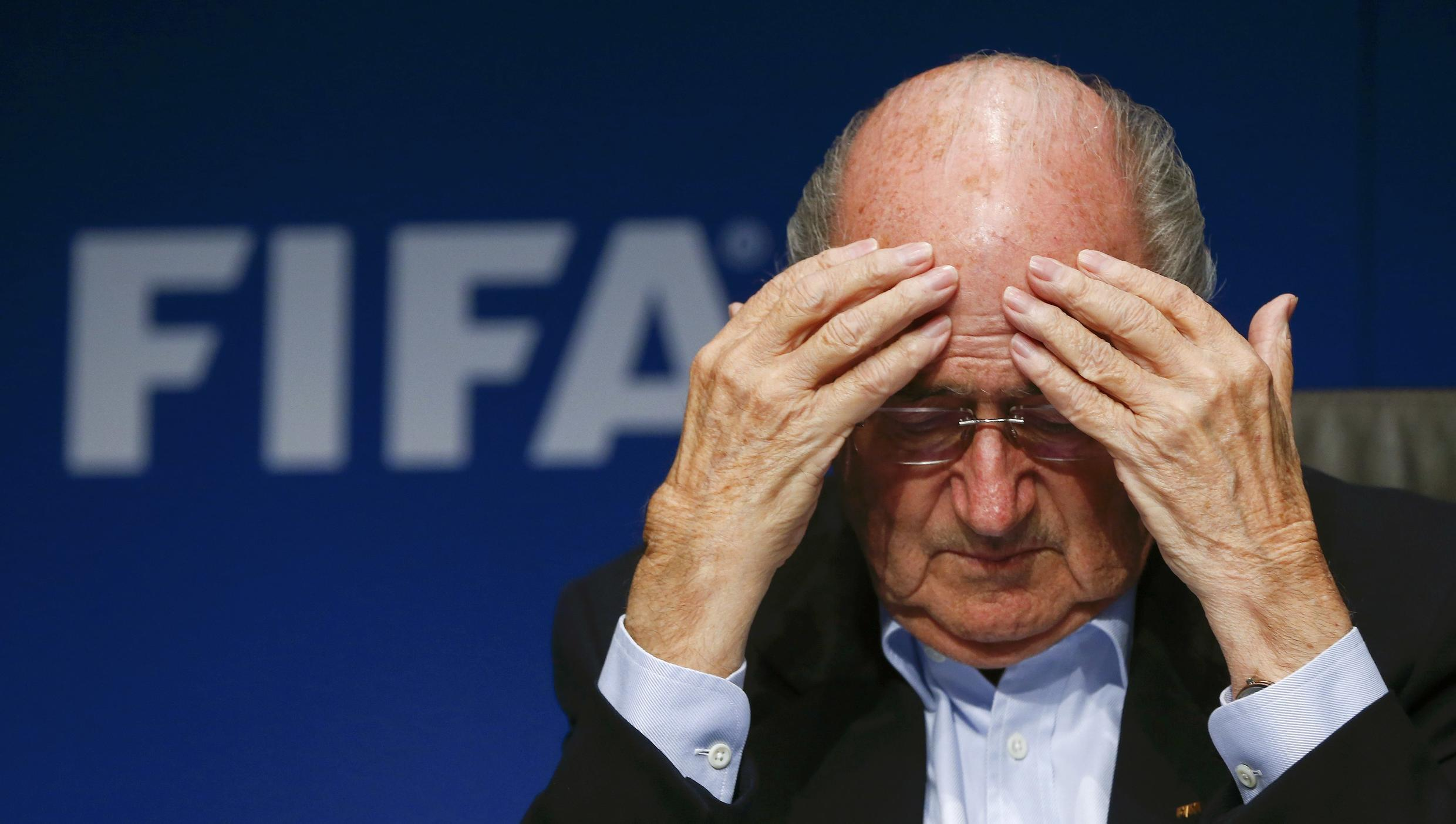 FIFA President Sepp Blatter has questioned the timing of arrests of top FIFA officials.