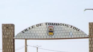 Entrée de la ville de Tombouctou au Mali.