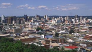 Vue de Harare, capitale du Zimbabwe.