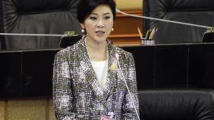 Cựu Thủ tướng Thái Lan Yingluck Shinawatra ra điều trần trước Quốc hội, Bangkok, ngày 22/01/2015