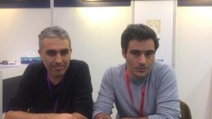 Luís Urbano e Ivo Ferreira, produtor e realizador de Projecto Global, filme em preparação sobre as FP25 em Portugal
