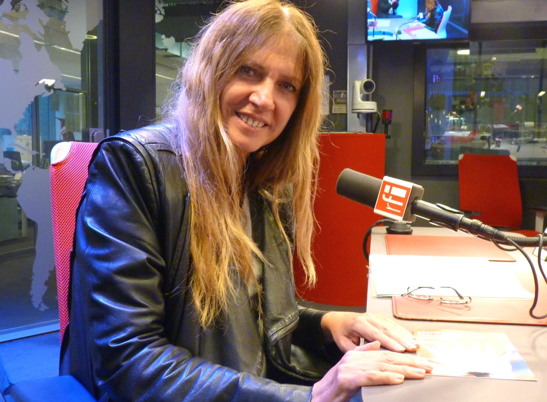 María Lagrange en los estudios de RFI