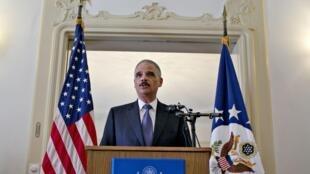 Le secrétaire américain à la justice, Eric Holder, était mardi 8 juillet en Norvège, pour parler coopération anti-terroriste avec l'Europe.