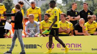Ousmane Dembele na kungiyar Borussia Dortmund a ranar 9 ga watan Agustan 2017.