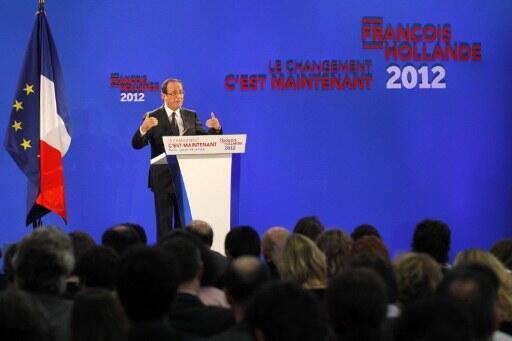 Ông François Hollande trong cuộc họp báo tại Paris ngày 26/01/2012.