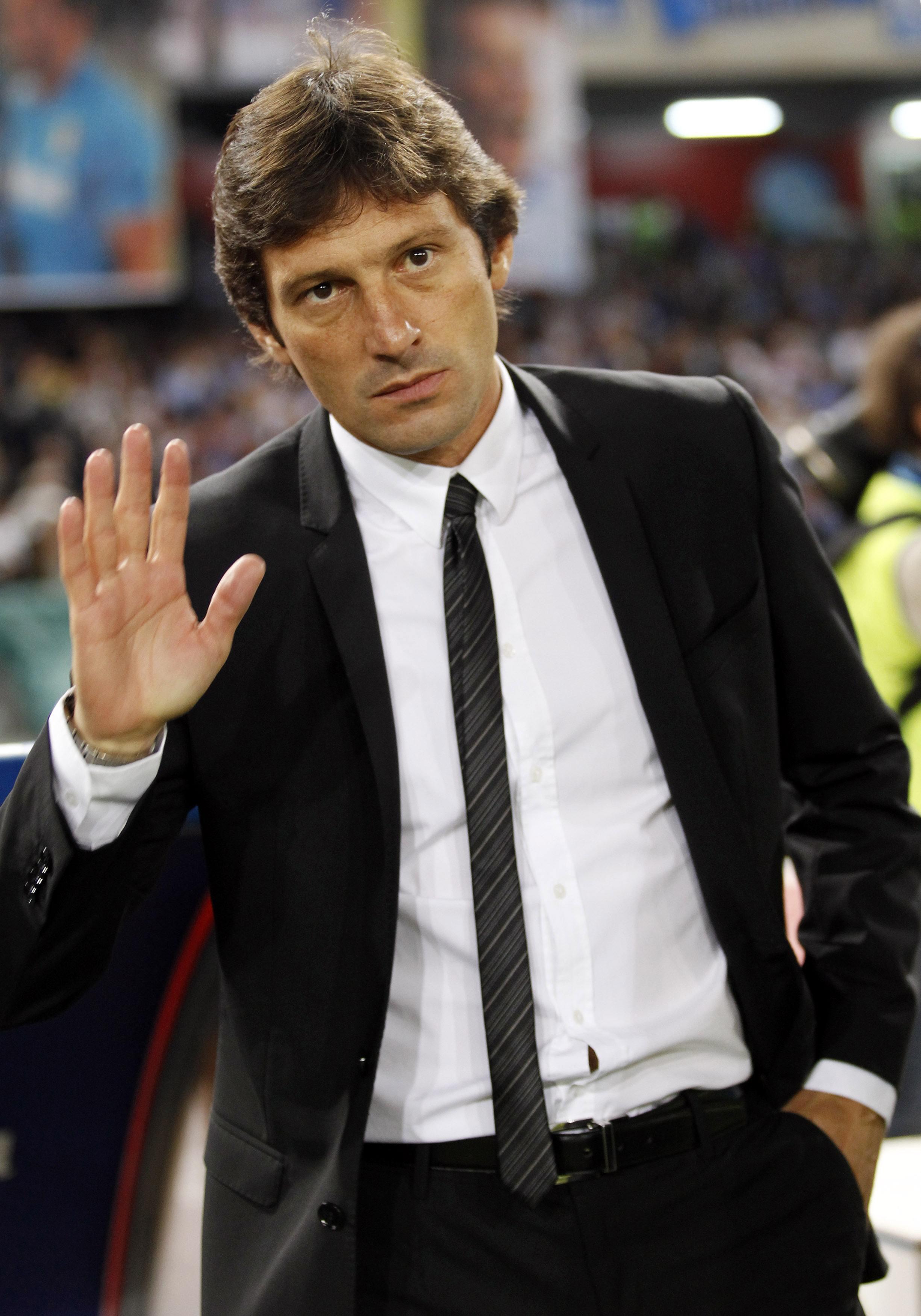 O treinador brasileiro Leonardo.