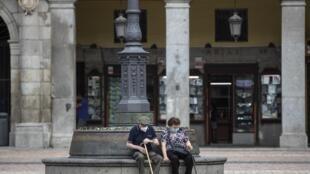 Le centre de Madrid, la capitale espagnole, désertée par ses habitants, le 16 septembre 2020.