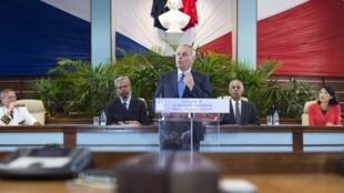 Le Premier ministre Jean-Marc Ayrault s'est exprimé devant le Congrès calédonien, vendredi 26 juillet 2013.