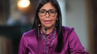 Delcy Rodríguez: a presidente da Assembleia Constituinte de Nicolás Maduro.
