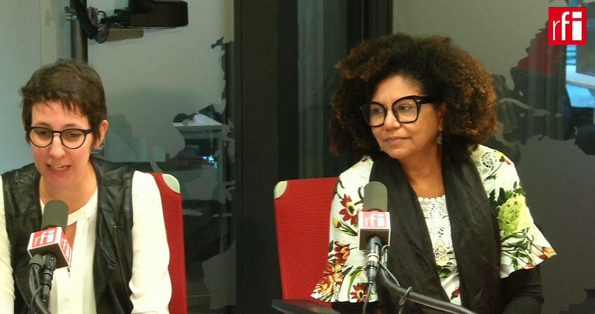 As pesquisadoras do grupo Nexos Marília Pisani e Zuleide de Queiroz (direita).