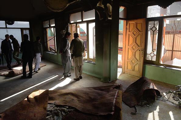 """منزل """"میر ولی"""" نماینده ولایت هلمند پس از حمله تروریستی طالبان"""