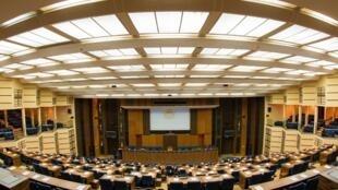 Grand auditorium du King Fahd palace près de Dakar où se tient le Forum sur la paix et la sécurité en Afrique.