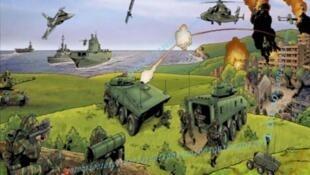 Une représentation de la numérisation du champ de bataille.