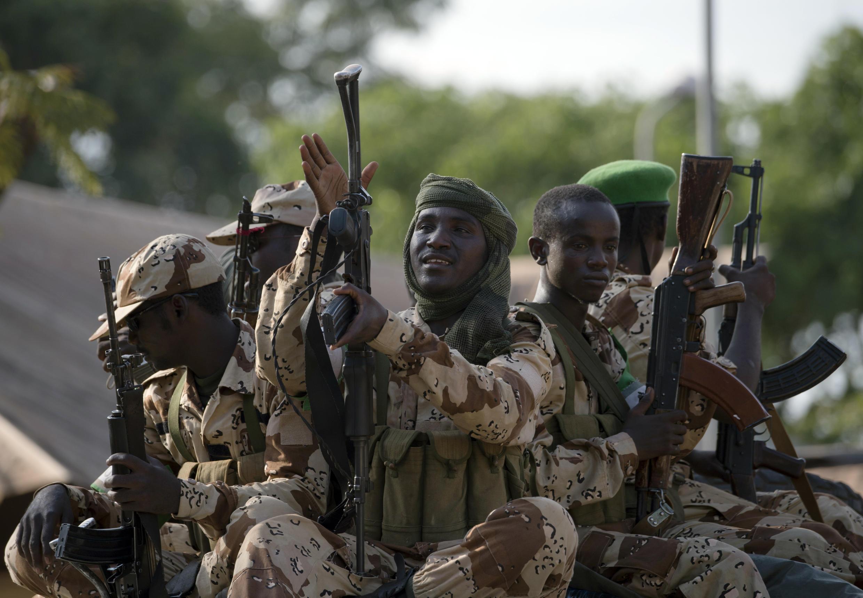 Le Tchad dispose d'une armée puissante et aguerrie. Ici, des soldats tchadiens dans un camp de la Misca, à  Bangui en RCA, en avril 2014.