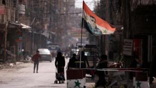 Một góc phố ở cửa ngõ vào thủ đô Damas, Syria, ngày 10/03/2021.