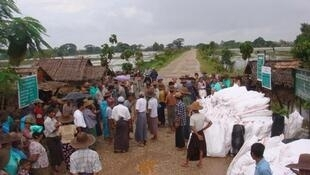 Care's family kits distributed at affected village after flood in August 2012