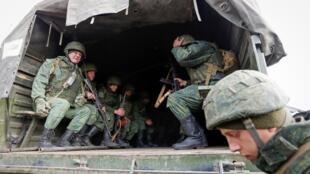 Một đơn vị lực lượng ly khai thân Nga ở Donetsk, gần chiến tuyến. Ảnh minh họa