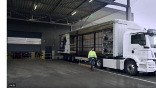 Capture d'écran du eTGM, le 1er camion électrique du constructeur allemand MAN.