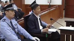 Bo Xilai, lors de l'audience du 25 août 2013 à Jinan.