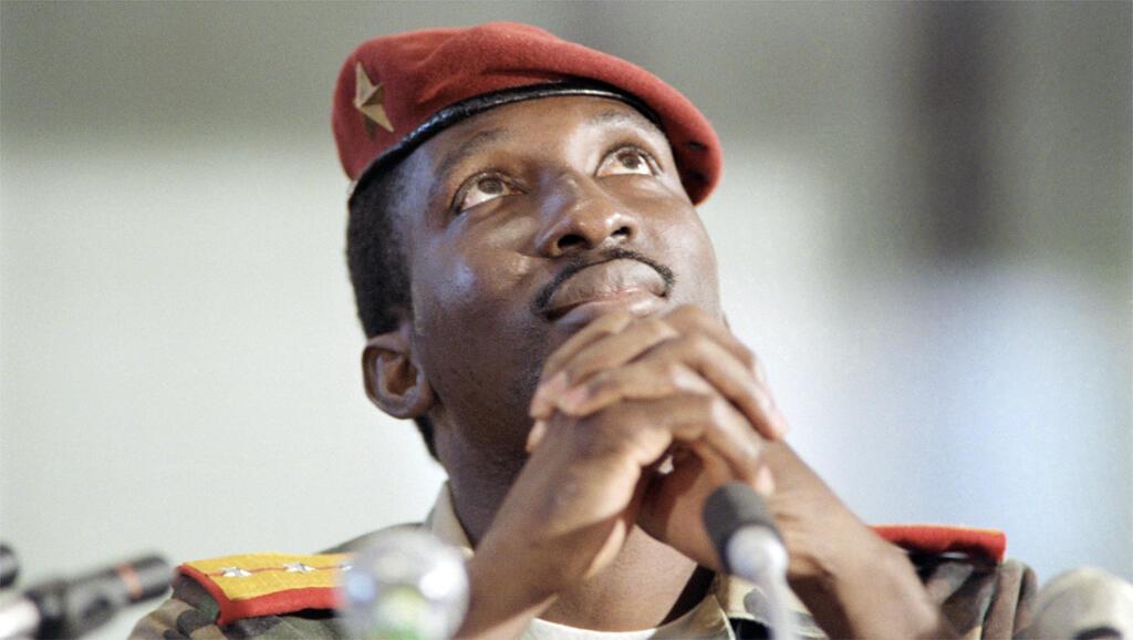 Thomas Sankara en conférence de presse, le 2 septembre 1986, pendant le sommet des non-alignés à Harare.Il avait 33 ans à son arrivée au pouvoir.