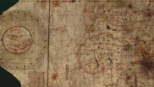 Carte portulan anonyme dite de Christophe Colomb, vers 1492.