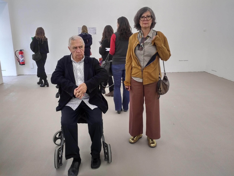 María Thereza Alves y Jimmie Durham durante la presentación de la exposición a la prensa. villeurbanne, 1 de marzo de 2018.