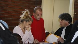 Emilie Lelouche, Eric Breteau during their trial in Chad,  21 Decembre 2007.