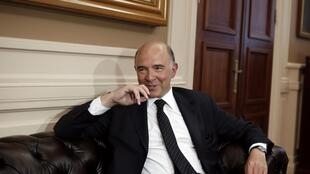 French former finance minister Pierre Moscovici, file August 2014.