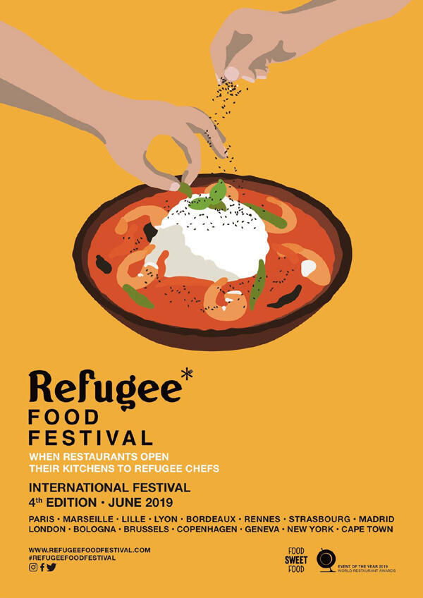 Affiche Refugee Food Festival.